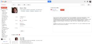 Bruk kommentarfeltet til høyre i Google kontakten din i nettleseren. Her kan du skrive mye nyttig informasjon, og dette feltet er også tilgjengelig i kontaktlisten på telefonen din når du har synkronisert med Google. Klikk på bildet for større versjon.
